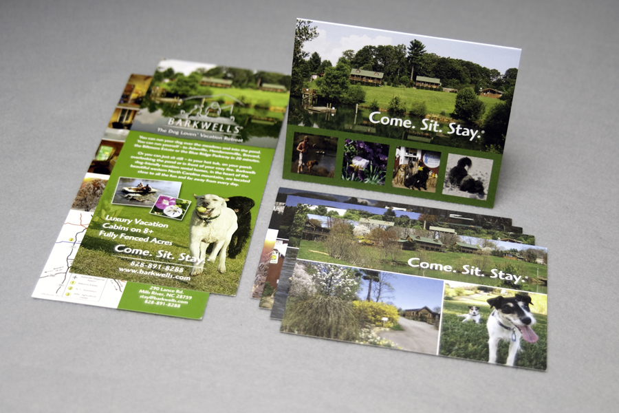 Brochure Design for Barkwells, A Dog Lovers' Vacation Retreat